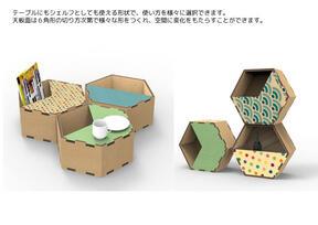 インクジェット印刷で自分好みにカスタマイズできる家具