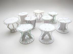 aYaToRi - ダンボールと紐のローテーブル